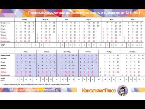 Ставропольский производственный календарь 2019