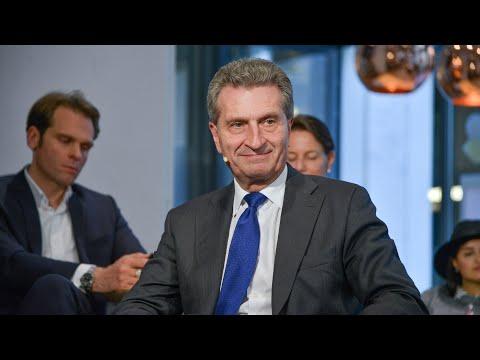 "Günther Oettinger, Georg Polzer & Cherno Jobatey ""Europa digital erfolgreich"" UdLDigital Talkshow"