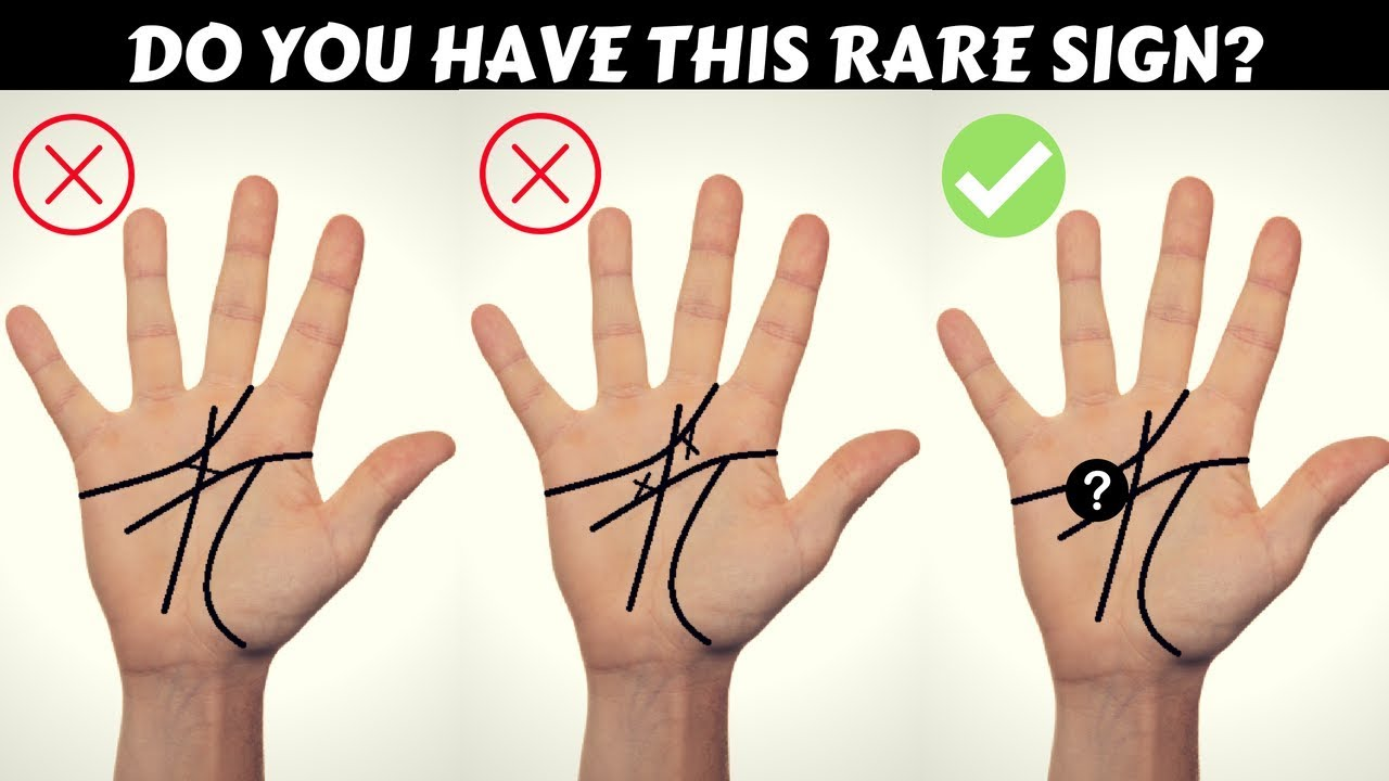 Rare Mystic Cross Or Letter X On Your Palm? Palmistry   YouTube