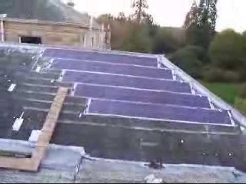 flexible solar panels on slate roof