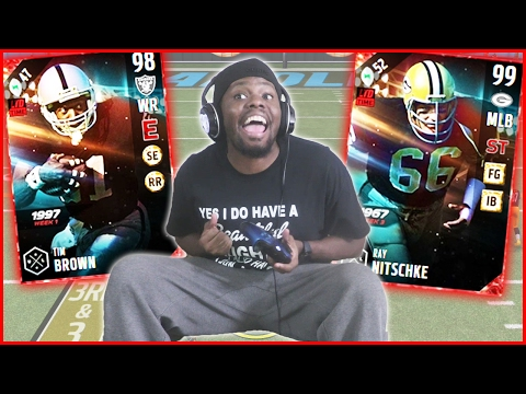 MUT 17 - 99 BOSS ULTIMATE LEGEND TIM BROWN AND RAY NITSCHKE!  (Madden 17 Ultimate Team)