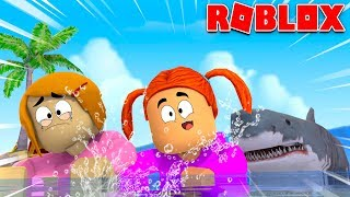 Roblox Shark Bite With Molly And Daisy!
