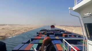 See exclusive new Suez Canal from the largest container carrier in the world