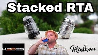 Stacked RTA!! By Kaees & Tony B - Build & Wick - Mike Vapes