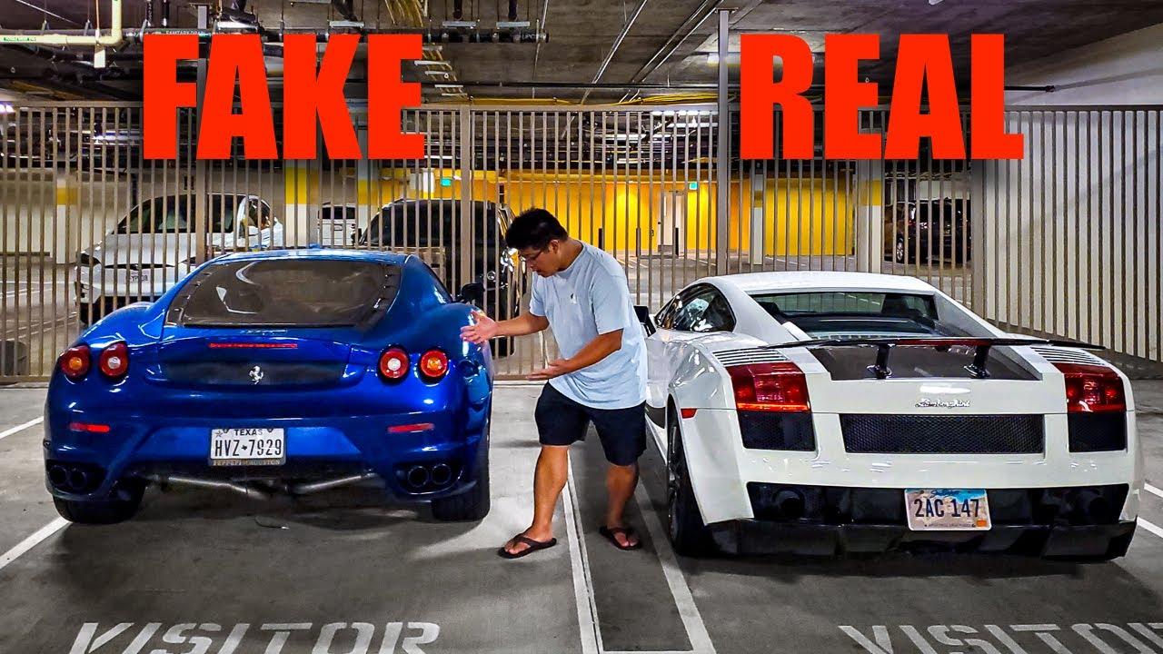 Fake Ferrari Trolls Real Lamborghinis in Beverly Hills