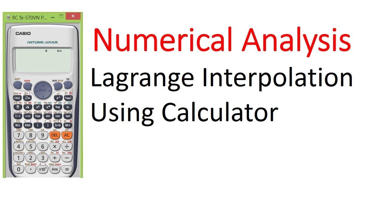 Lagrange interpolation polynomials.