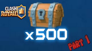 Opening 500 FREE CHESTS part 1 | Legendary? | Clash Royale