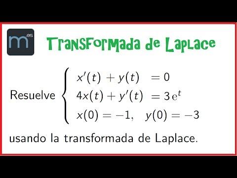 Transformada de Laplace - Sistema de ecuaciones diferenciales lineales 2 (Universidad)