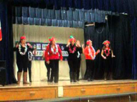 Moms sing at First Street Elementary School.
