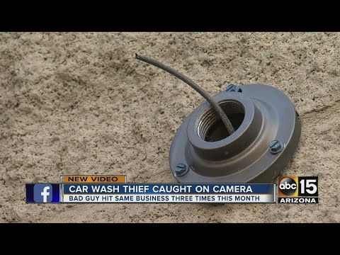 Phoenix car wash burglarized 3 times