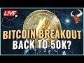 MASSIVE Bitcoin Breakout Could Be Coming TODAY! - Bitcoin Headed Back to $50k? Coffee N Crypto LIVE