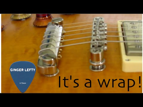 How to Top Wrap strings on a guitar with Tune-o-matic bridge and Stopbar Tailpiece - Ginger Lefty