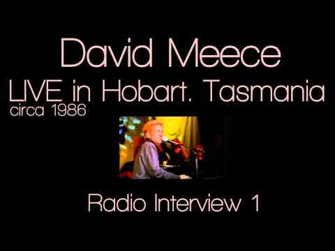 David Meece LIVE in Tasmania: Radio Interview 1 c.1986
