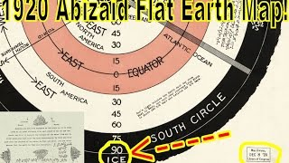 Flat Drop | Worlds Beyond The Poles | Abizaid Flat Earth Map 1920