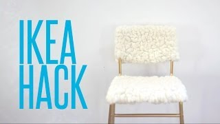 DIY Ikea Hack // Tejn Sheepskin & Stig Bar Stool