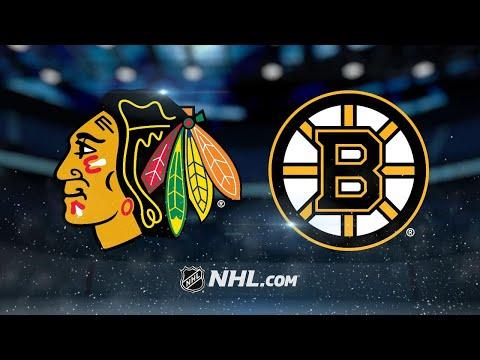 Balanced offense powers Bruins past Blackhawks, 7-4