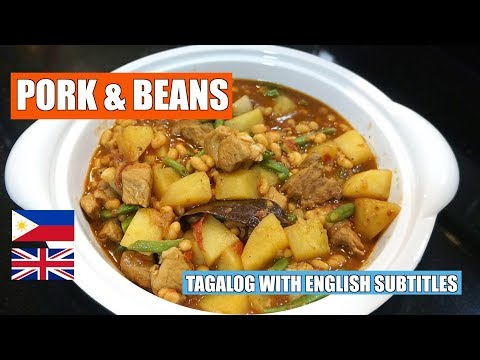 Pork & Bean - Pinoy Pork & Beans - Pork Stew - Baked Beans Recipe - Canned Beans Recipe