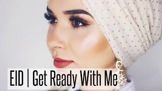 EID GRWM Makeup Tutorial & Scarf | NABIILABEE