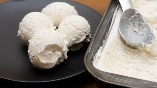 HOMEMADE VANILLA ICE CREAM RECIPE (ONLY 3 INGREDIENTS) | NO EGGS | NO ICE CREAM MACHINE