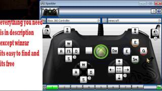 how to play minecraft pc version with xbox controller and the xbox controls + download