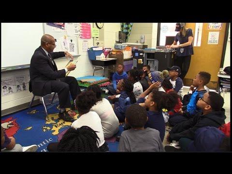 Community Reading Day with President Alsberry & Flossmoor Hills Elementary School