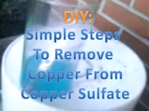 Copper Refining From Copper Sulfate! Copper Metal Recovery!
