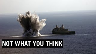 Why US Navy Detonates Large Bombs Next to its Ships? #shorts
