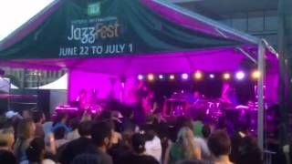 Balkan Beat Box outdoor concert in Centennial Square Victoria which...