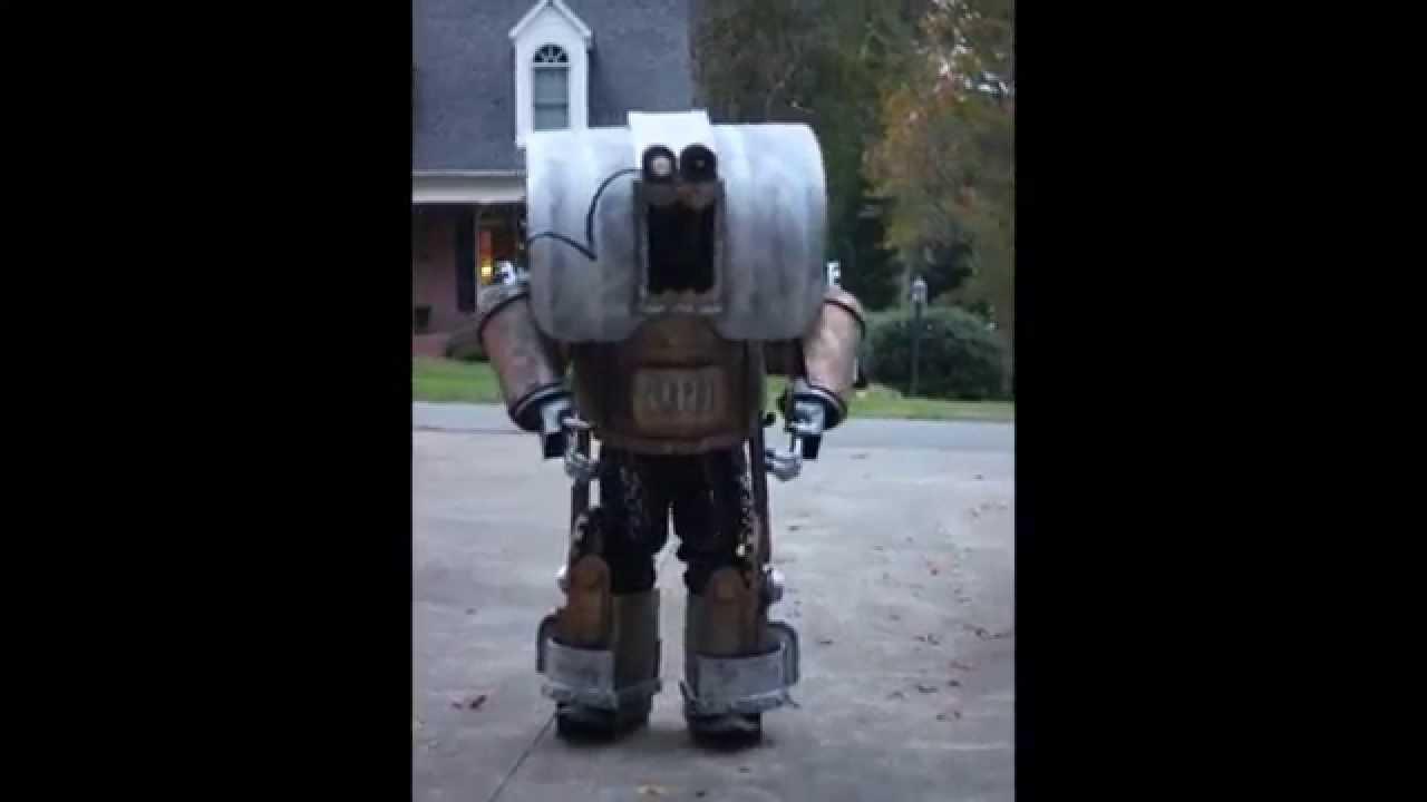 & Handmade Steampunk Robot Costume - YouTube