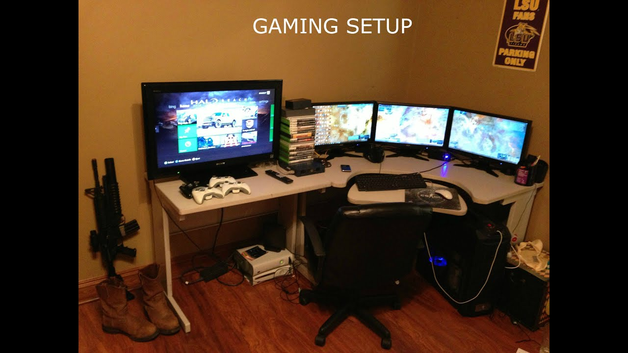 Gaming Setup 200 Xbox One Subscibers Giveaway Youtube