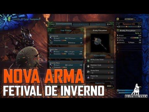 Monster Hunter World - NOVA ARMA DO FESTIVAL DE INVERNO VAI CHEGAR! thumbnail