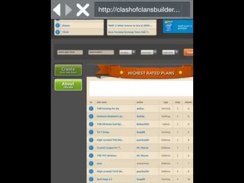 Clash of clans free base builder and plans