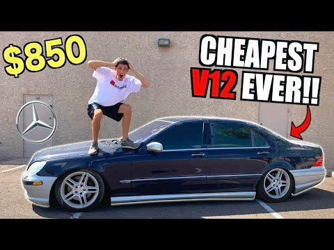 I Bought a TOTALED V12 Mercedes For $850 At Salvage Auction