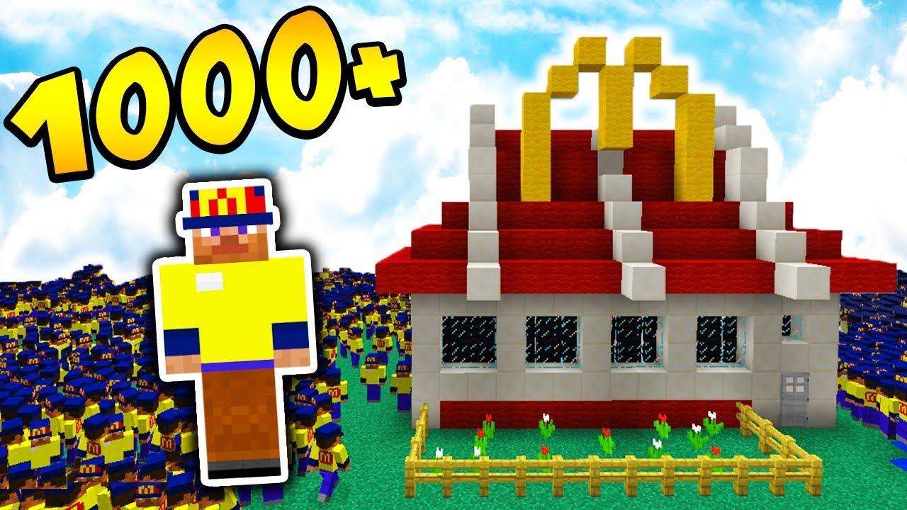 1000 MCDRIVERÓW vs MCDONALD'S!!! – MINECRAFT APOKALIPSA #23