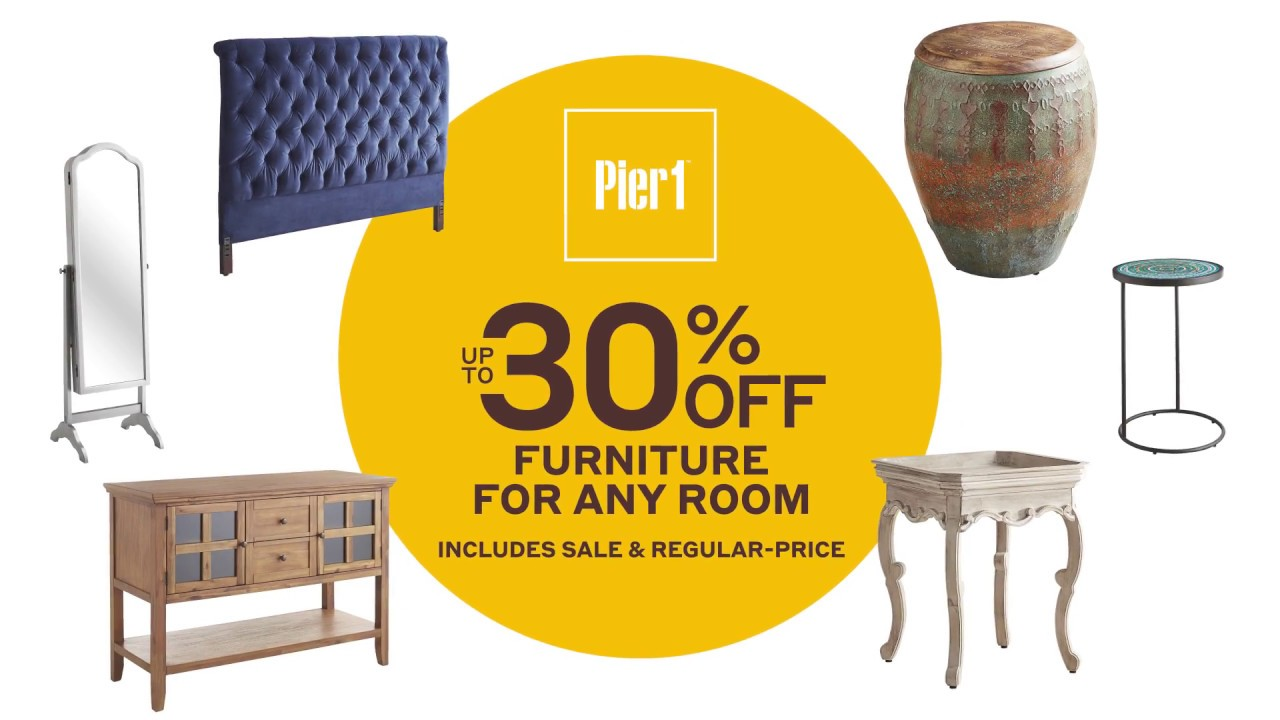 Pier 1 refresh for fall furniture sale