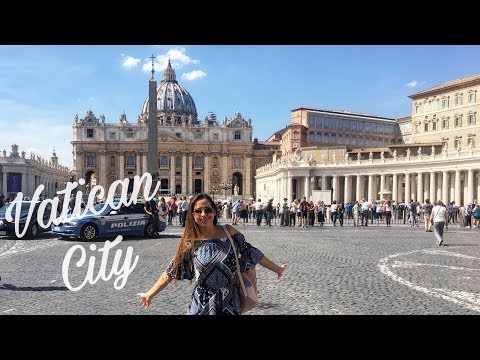 TRAVEL VLOG Rome || Piazza Navona, Italian market and Vatican City!