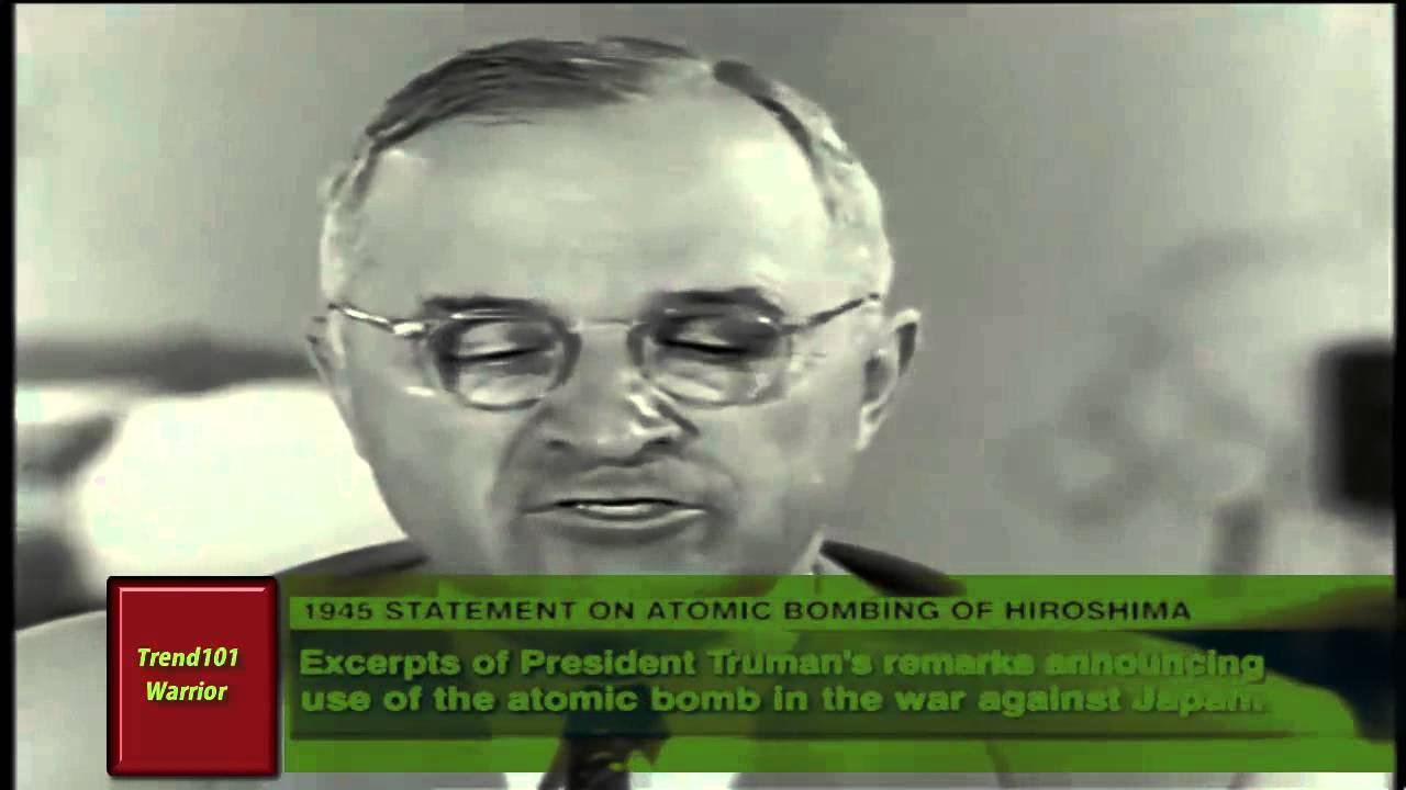 President Truman announces the bombing of Hiroshima (extended version)