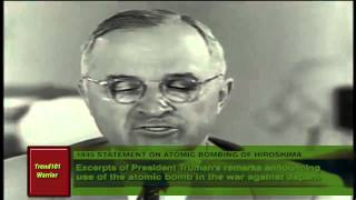 President Truman announces the bombing of Hiroshima (extended version)