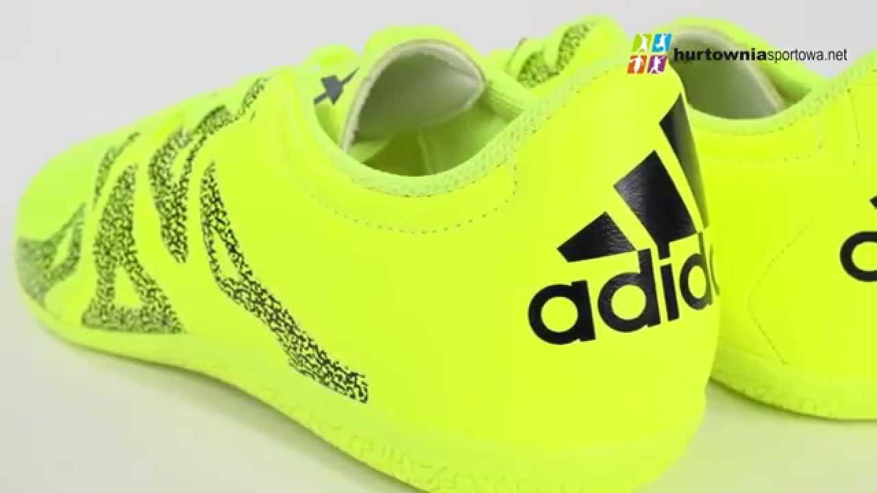6ac6b6ca4 Buty halowe adidas X 15.3 IN Leather M B32994 - YouTube
