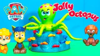 JOLLY OCTOPUS Game With Nickelodeon Patrol Doc McStuffins + Mickey Mouse Video Toy Unboxing