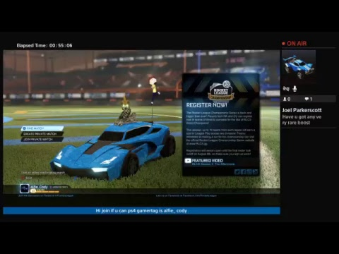 Ps4 ROCKET League LIVE + WHEN I HIT 100 SUBS IM DOING A GIVEWAY