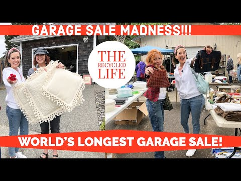 GARAGE SALE MADNESS!! World's Longest Garage Sale In Long Beach, WA | How Many Did We Hit In 1 Day?!