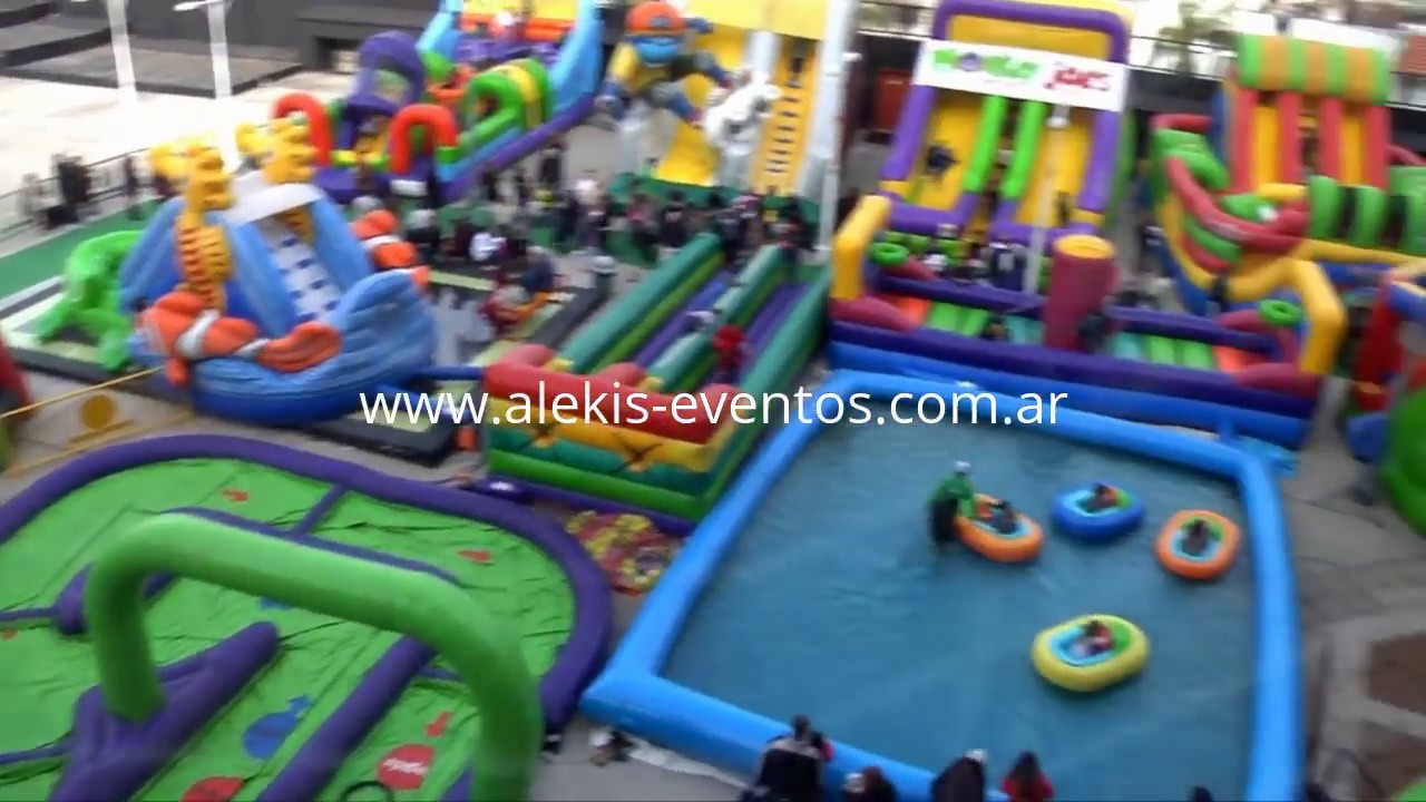 Parque De Diversiones Inflable Www Alekis Eventos Com Ar Youtube