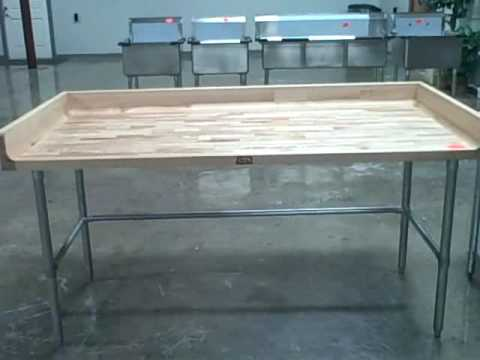 Bakers Maple Top Table