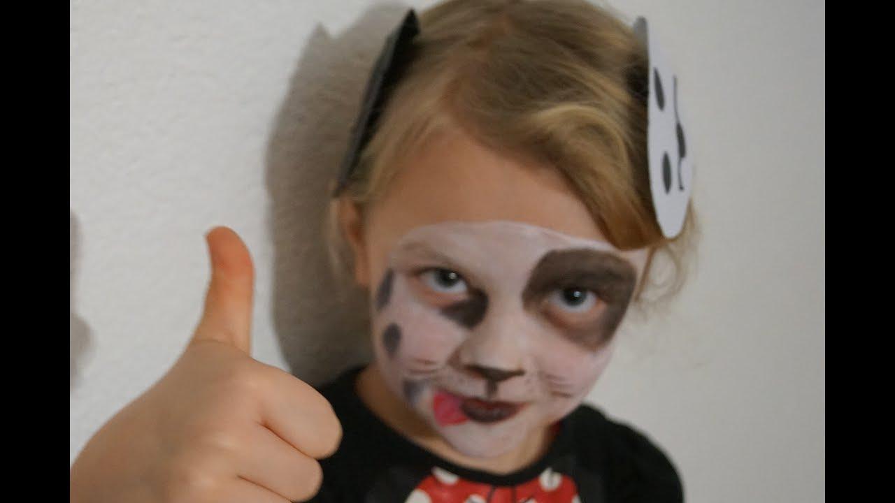 Dalmatiner Zeichnen Gesicht Schminken Kinder Schminke How To