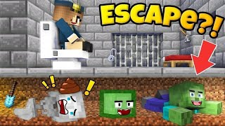 PRISON ESCAPE CHALLENGE - MONSTER SCHOOL FUNNY Minecraft Animation