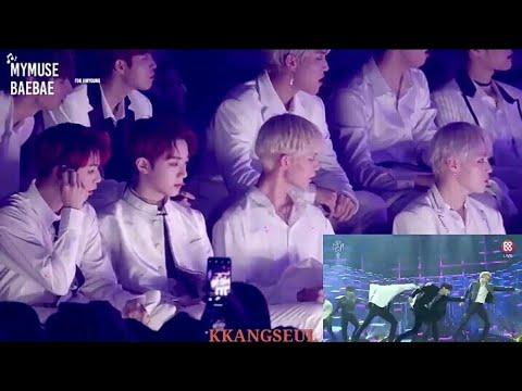 181106 WANNA ONE (워너원) Reaction To BTS 'I'm Fine' At 2018 MGA AWARDS