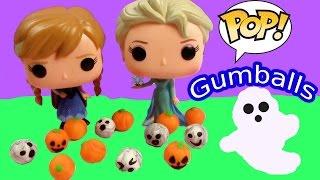 Disney Play-doh Halloween Gumballs Maker Frozen POP Vinyl Queen Elsa Princess Anna