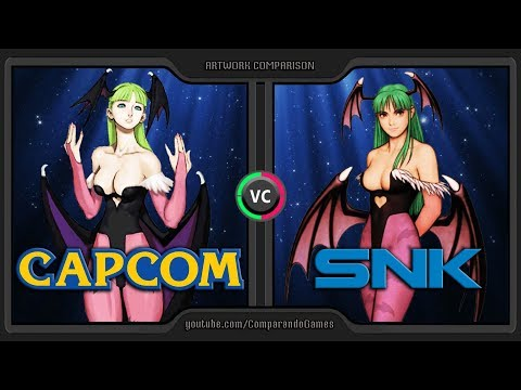 Artwork Comparison of CAPCOM vs SNK  (SNK vs CAPCOM) Side by Side Comparison