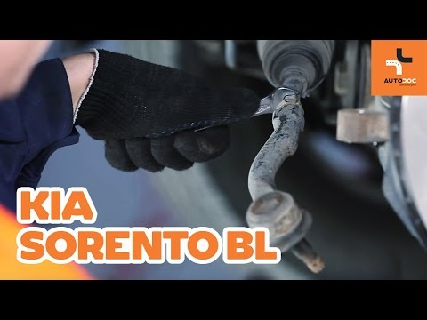 How to replace a track rod end on KIA SORENTO BL TUTORIAL | AUTODOC